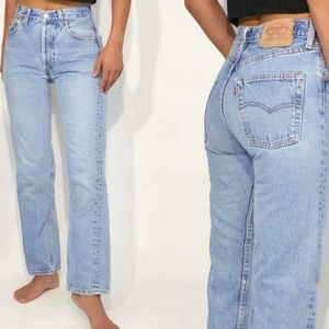 Levi's 501 vintage button fly mom jeans